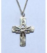 Strieborný prívesok kríž - HORUS